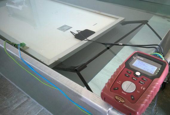 Μετρηση αντιστασης μονωσης φωτοβολταϊκων πανελ – WLC test