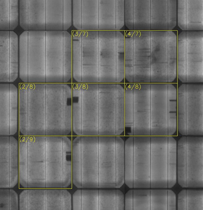 Μικρο-ρωγμές κυψελών φωτοβολταϊκών πάνελ