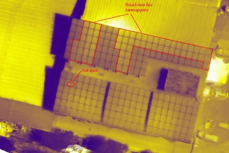 Αχαρνες 02 - Εναερια θερμογραφηση φωτοβολταϊκων πανελ
