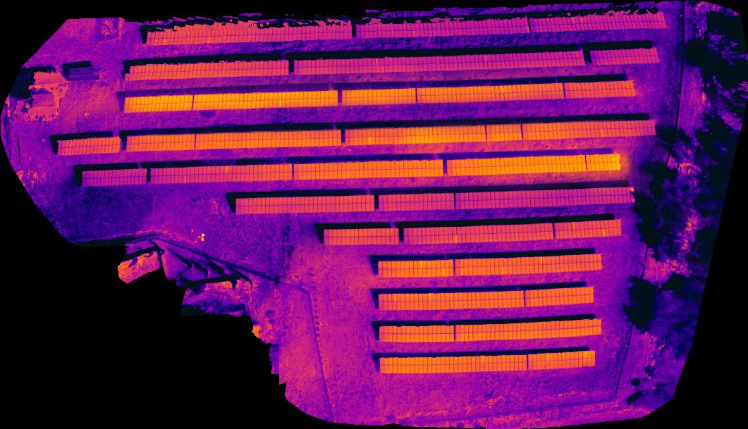 Αχαρνες 03 - Εναερια θερμογραφηση φωτοβολταϊκων πανελ